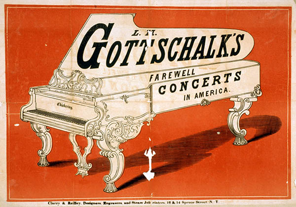 Advertisement for Gottschalk's Farewell Concerts in America