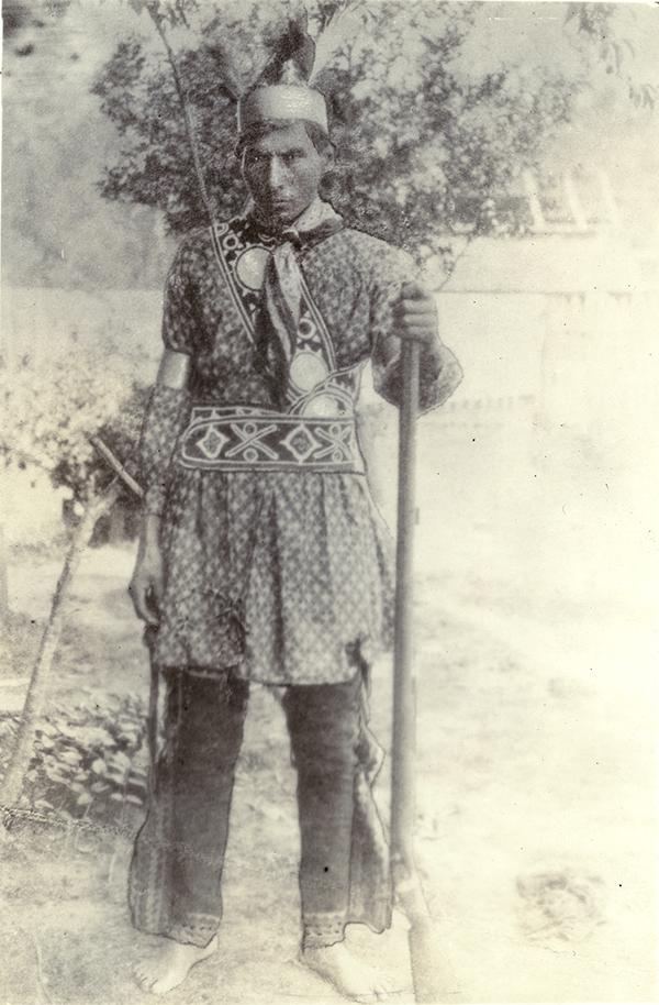 Outdoor Portrait of an Unidentified Coushatta Man
