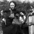 Bonnie Parker Smoking a Cigar
