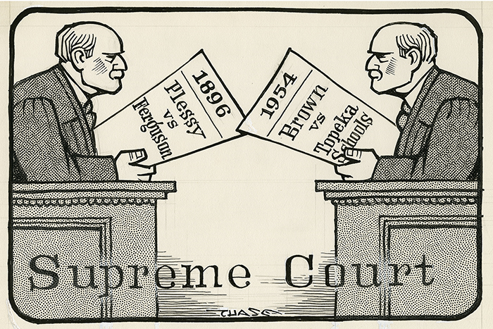 """plessy v ferguson and brown v Plessy v ferguson was a landmark 1896 us supreme court decision that upheld the constitutionality of racial segregation under the """"separate but equal"""" doctrine the case stemmed from an."""
