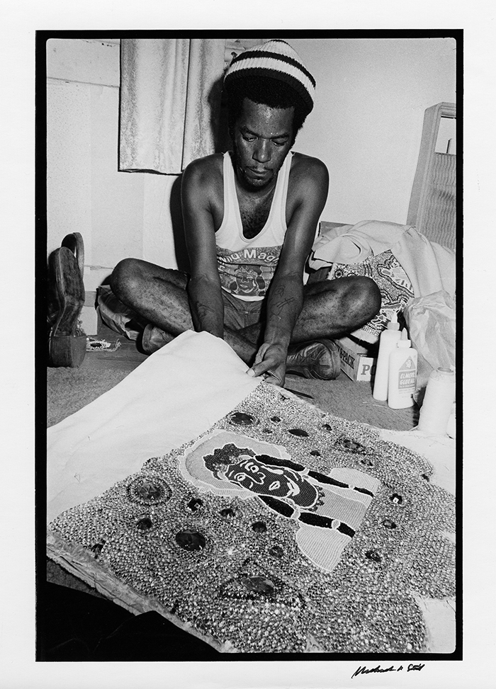 """Chief """"Monk"""" Boudreaux Sewing"""