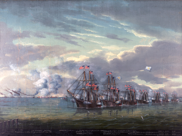 Farragut's entrance into Mobile Bay, 5th August, 1864