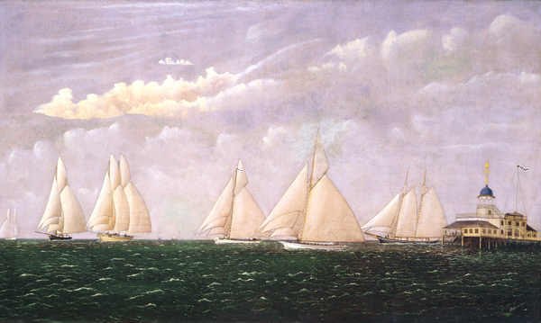 Sailing boats on Lake Pontchartrain, The Southern Yacht Club