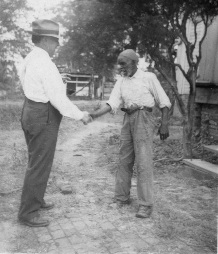 Uncle Rich Brown and John A. Lomax