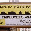 Billboard for City Employees Week in New Orleans