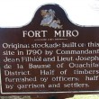 Fort Miro Historical Marker