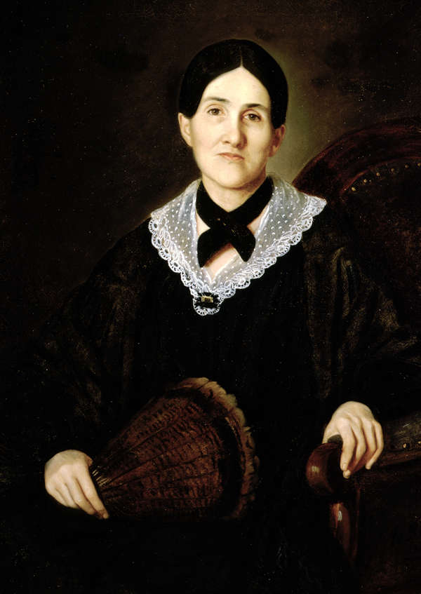 Portrait of a Woman with a Turkey Feather Fan