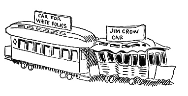 """White"" and ""Jim Crow"" railcars"