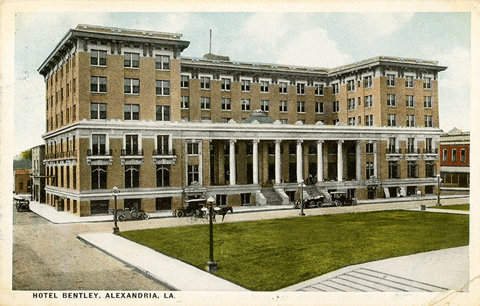 This Color Relief Halftone Postcard Of The Hotel Bentley In Alexandria Was Postmarked 1920 Lumber Baron Joseph Hired Architect George R Mann To