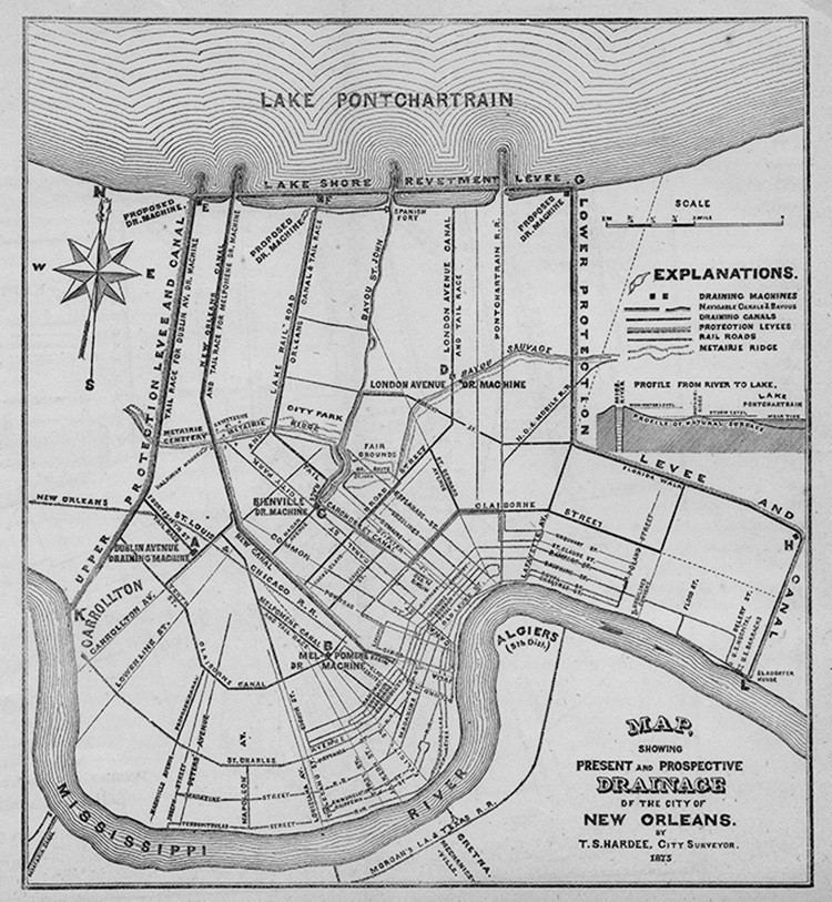 The Topography and Drainage of New Orleans