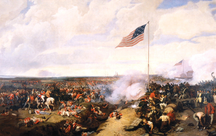 French painter Lami depicted the American Victory of over the British at the Battle of New Orleans, fought just outside the city in St. Bernard Parish on January 8, 1815. Courtesy of the Collections of the Louisiana State Museum, 1991.080