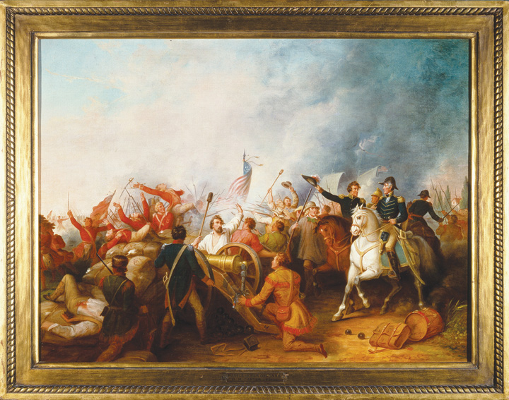 Battle of New Orleans by Dennis Malone Carter, 1856, oil on canvas.The Historic New Orleans Collection, 1960.22