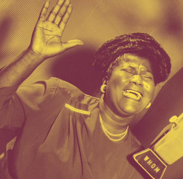 """Mahalia Jackson recorded 30 albums, mostly for Columbia Records, during her career, a dozen of which went """"gold"""" after a million sales. She won six Grammy Awards, including two bestowed upon her posthumously. Columbia Records"""