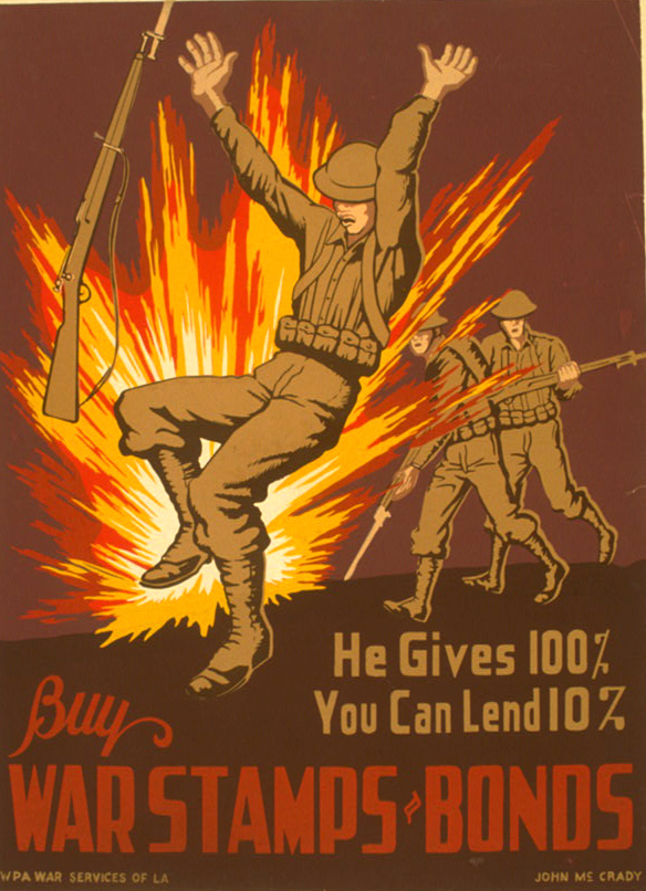 He gives 100% you can lend 10%. Buy war stamps and bonds.