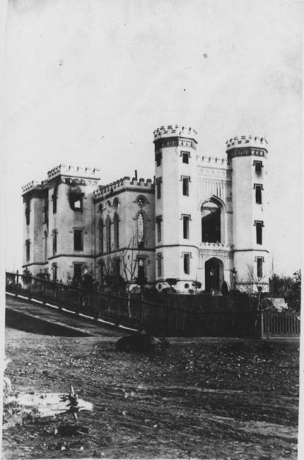 Old State Capitol after the fire of 1862