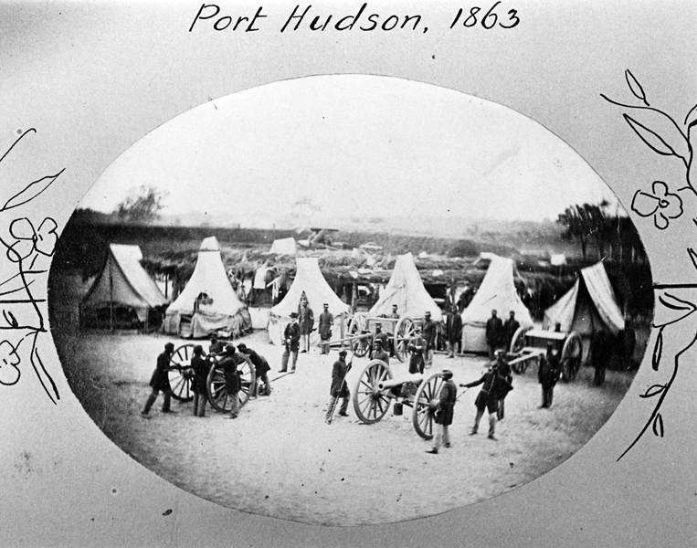 Louisiana Native Guards artillery practice, Port Hudson