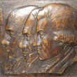 Beauvais was the President of the State Senate and upon the death of his predecessor Pierre Derbigny, he succeeded to Governor of Louisiana. the rightmost figure in this bronze relief of three short term Louisiana governors.