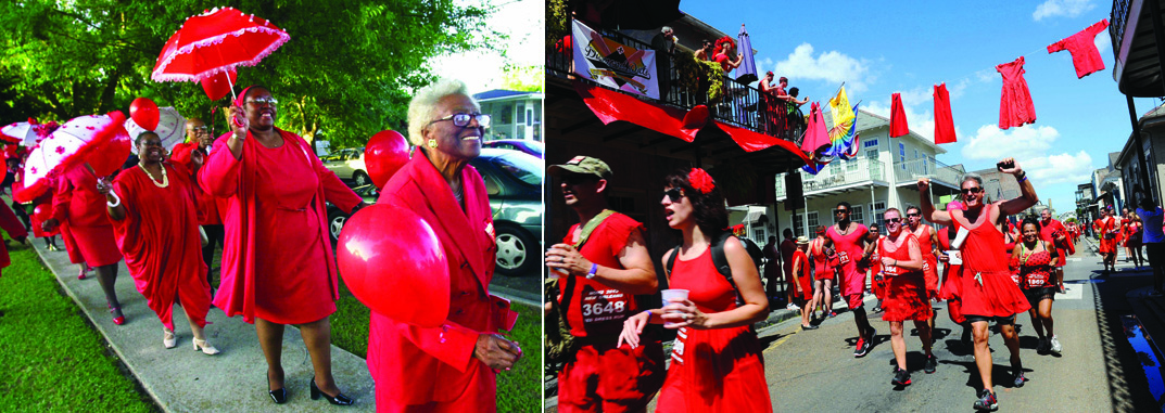 Pentecost celebration at Bethany Pentecostal Church, 2002 Bernie Y. Miller and her daughter Juanita Miller lead the second line at Bethany United Methodist Church which held a Pentecost celebration, Sunday, May 19, 2002