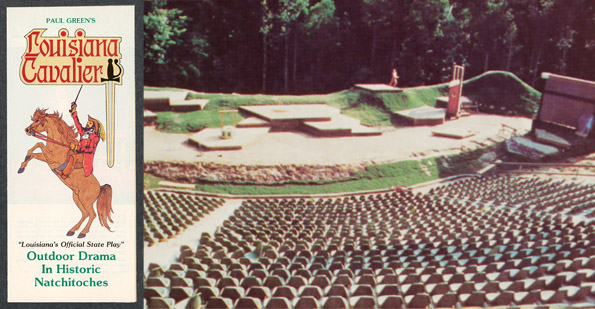 In the 1970s an amphitheater was constructed in Grand Ecore, near Natchitoches, Louisiana. The drama Louisiana Cavalier was staged for a few years during the summer months. Courtesy of East Carolina University, 35528