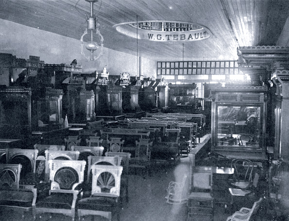 Wareroom of the W. G. Tebault furniture store. Courtesy of the Historic New Orleans collection, 77-224-pl