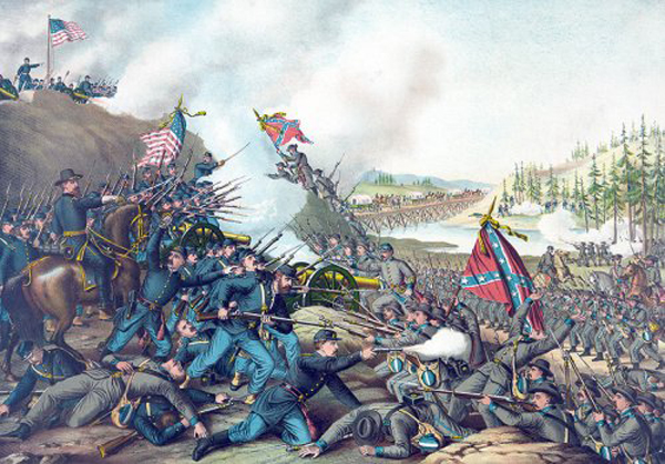 01-Lithograph-Battle-of-Franklin-Tennessee-Published-1891