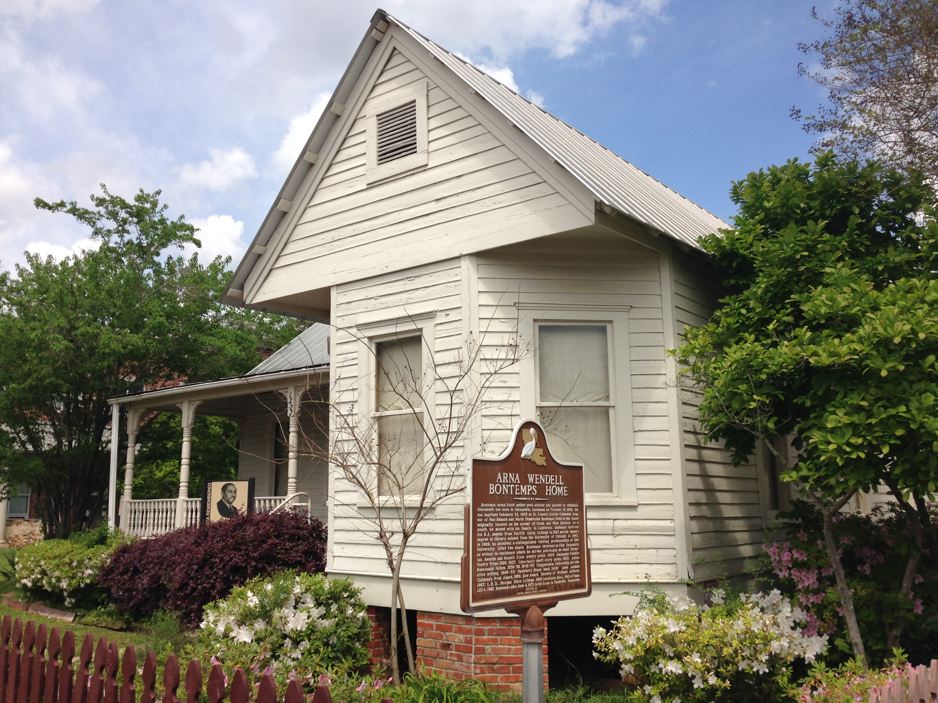 The Arna Bontemps home serves as a museum of African American history in downtown Alexandria.