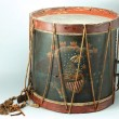 Historic drum used by Jordan Noble.Courtesy of Louisiana State Museum, loaned by Gasper Cusachs, 00479.1