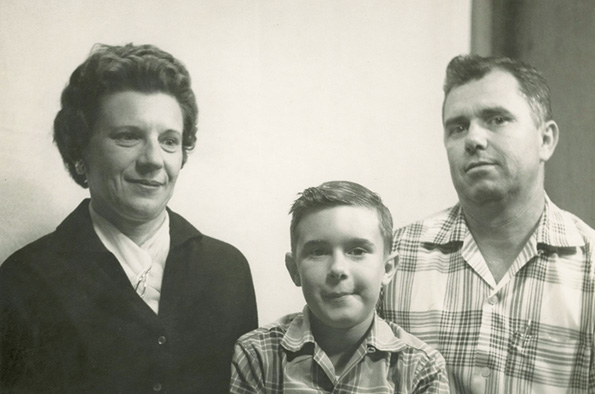 With his parents Marie-Pauline and Eddie Richard, 1957. Courtesy of Zachary Richard