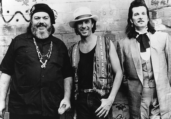 New Orleans Review with Dr. John and Willy DeVille, 1994. Courtesy of Zachary Richard