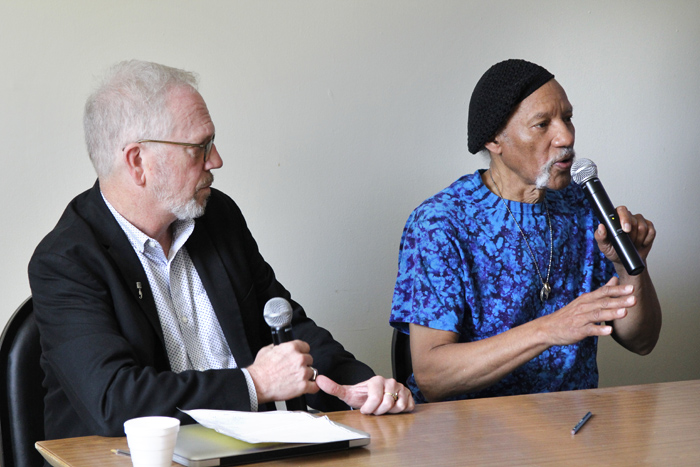 Nick Spitzer and Charles Neville.