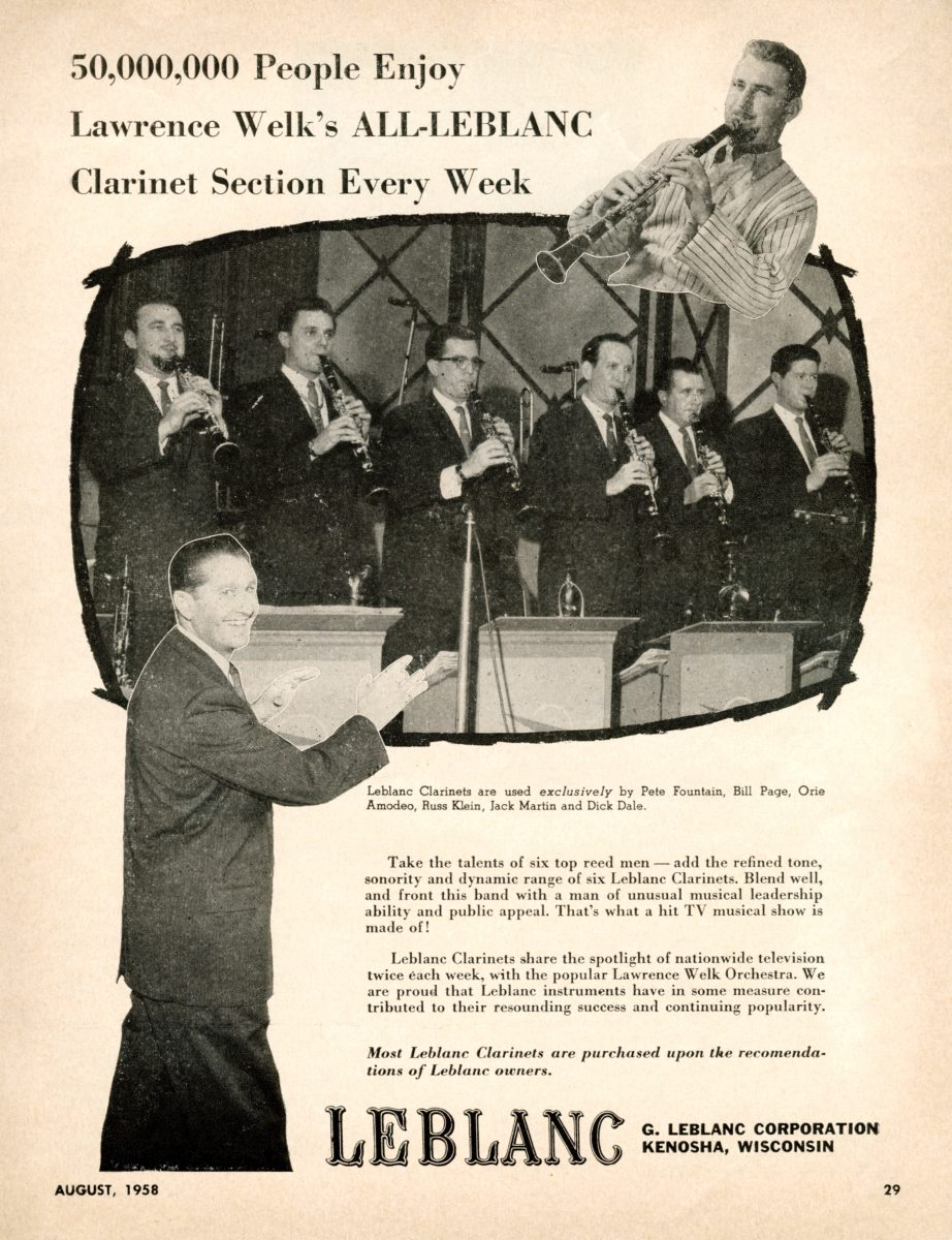 Lawrence Welk Clarinet Section