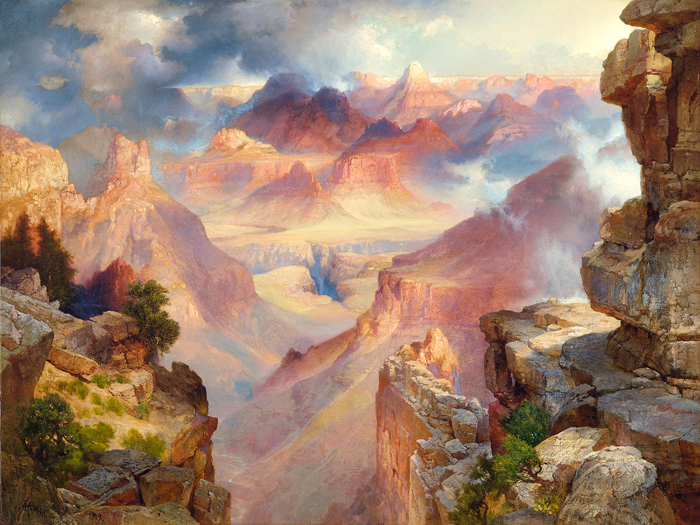 Thomas Moran, Grand Canyon of Arizona at Sunset, 1909, Oil on canvas, 30 x 40 inches, Paul G. Allen Collection courtesy of new orleans museum of art