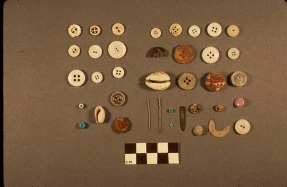 Artifacts from the Slave Quarters at Ashland-Belle Helene Plantation