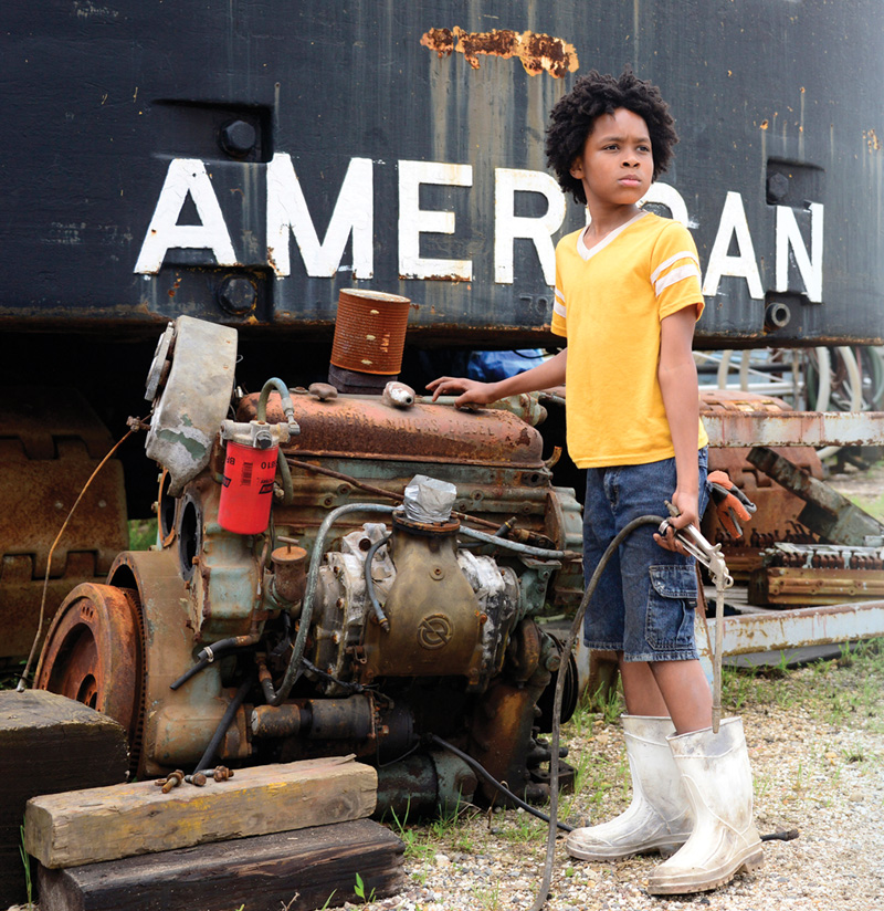 Actor Ari Neville on the set of Plaquemines. Ari plays the character of Ethan as a young boy. Photo by Jason Affolder