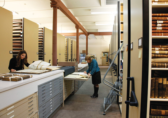 Besides its priceless collections of colonial era manuscripts and maps, the Louisiana Historical Center houses a wealth of primary and secondary source materials in a wide range of media. Courtesy of Louisiana State Museum, Photo by Mark J. Sindler