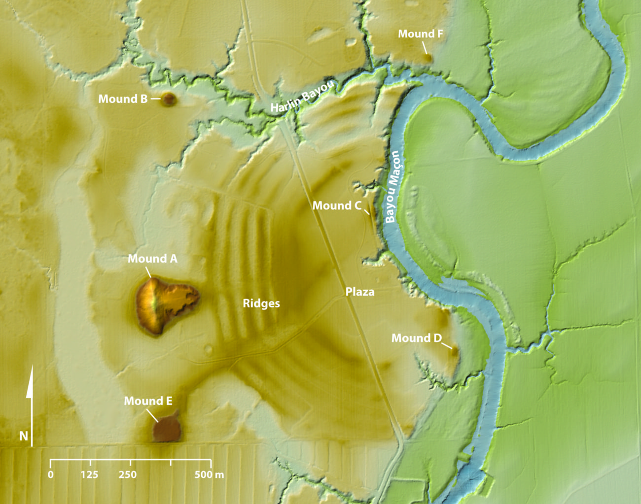 Lidar Map of Poverty Point