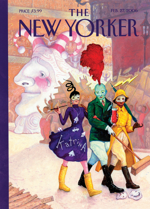 The cover that wasn't: Joyce's Katrina Rita Gras was bumped from The New Yorker, and later ended up as the cover of the spring 2016 issue of Louisiana Cultural Vistas.