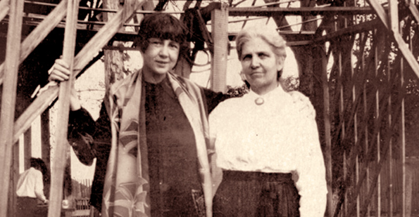 Cammie G. Henry (right) with writer Ada Jack Carver. Courtesy of the Cammie Henry Research Center, NSU